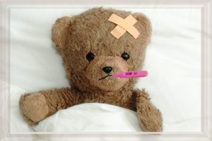 sick bear doll