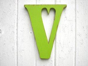 V green wooden