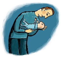 גם אבות יכולים לסבול מדכאון לאחר לידה