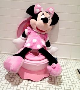 Mini Mouse on Toilet